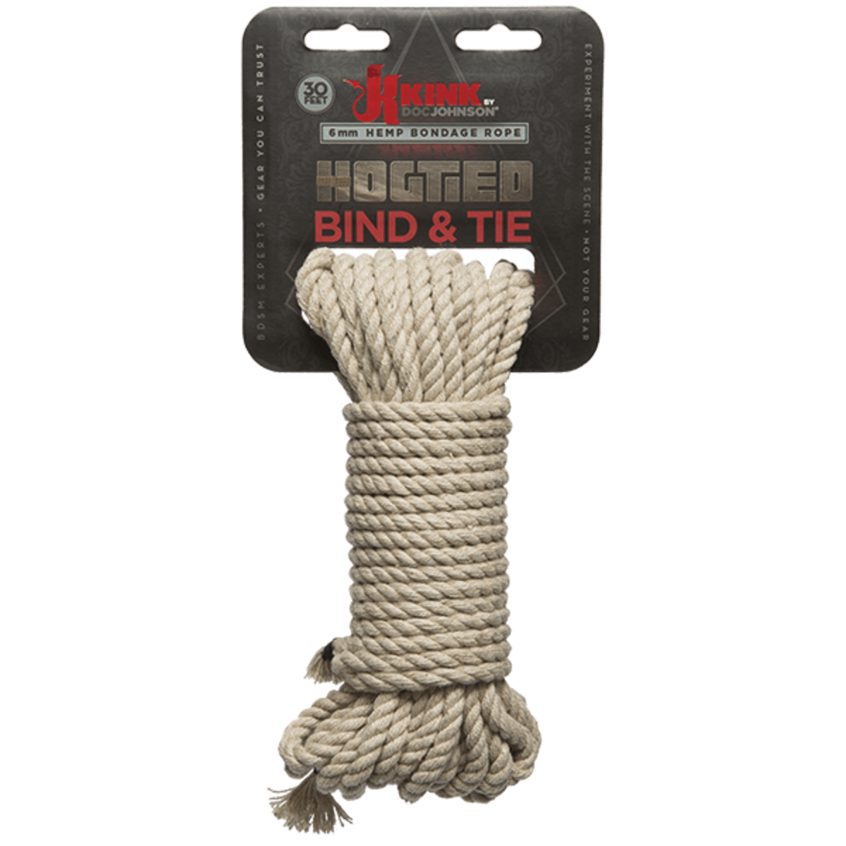 Kink Bind And Tie Hemp Bondage Rope 30 FT Natural